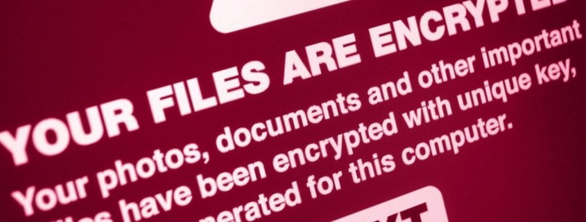 Ransomware-Alert Banner