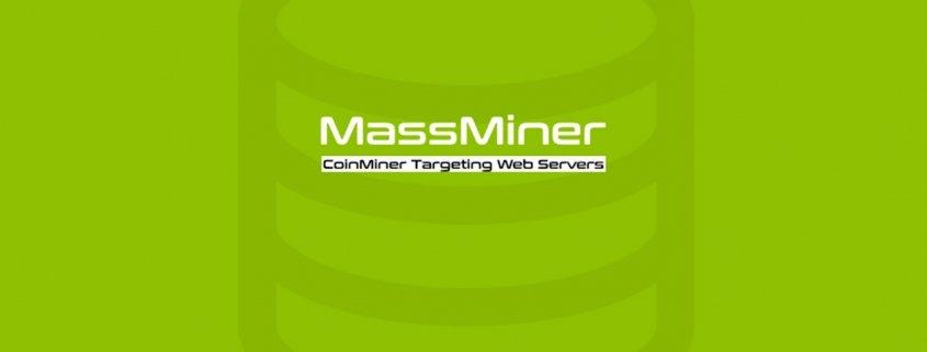 Massminer logo on green background