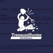 TreasureHunter logo on code background