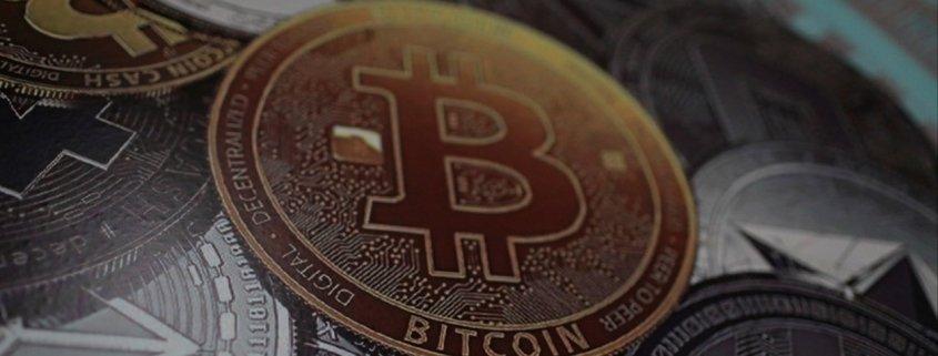Graphic representation of a Bitcoin