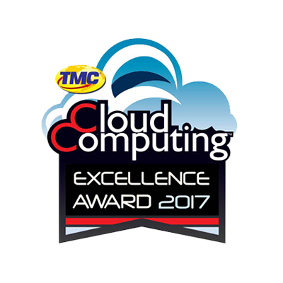 2017 CLOUD COMPUTING EXCELLENCE AWARD banner