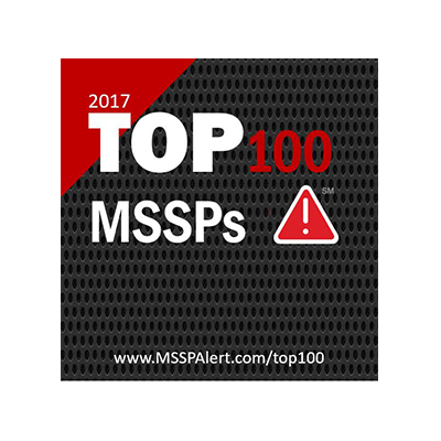2017 TOP 100 MSSPs award banner