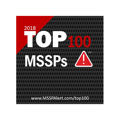 MSSP ALERT'S TOP 100 MSSPS FOR 2018 banner