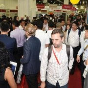 Busy conference expo hall