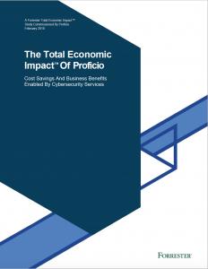 Forrester Total Impact Report Proficio Cover Page