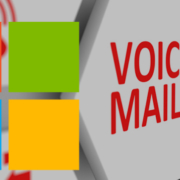 Voicemail tile graphic with Microsoft logo overlay
