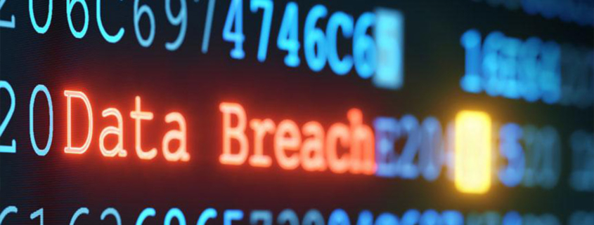 words data breach highlighted in code