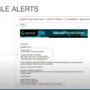 Splunk Services Alert Data Header