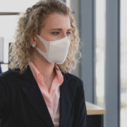 Office workers wearing masks - COVID