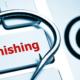 Phishing hook on keyboard