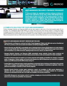 Proficio AWS Security Services Overview Cover